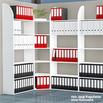 Büro-Regale Dante®, 2250 mm hoch, weiß