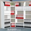 Büro-Regale Dante®, 2600 mm hoch, weiß