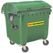 Müll-Großbehälter MGB 1100 RD aus Kunststoff mit Runddeckel