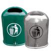 Ovaler Abfallbehälter aus Stahlblech