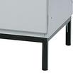 Vierkantrohr-Fußgestell für Garderobenschränke Classic + Comfort