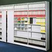 Wände/Türen-Anbausatz für Regale PROGRESS 500 T, lichtgrau